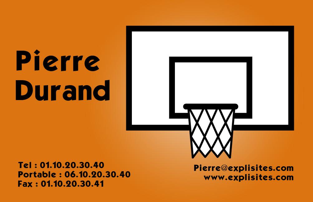 Carte De Visite Basket