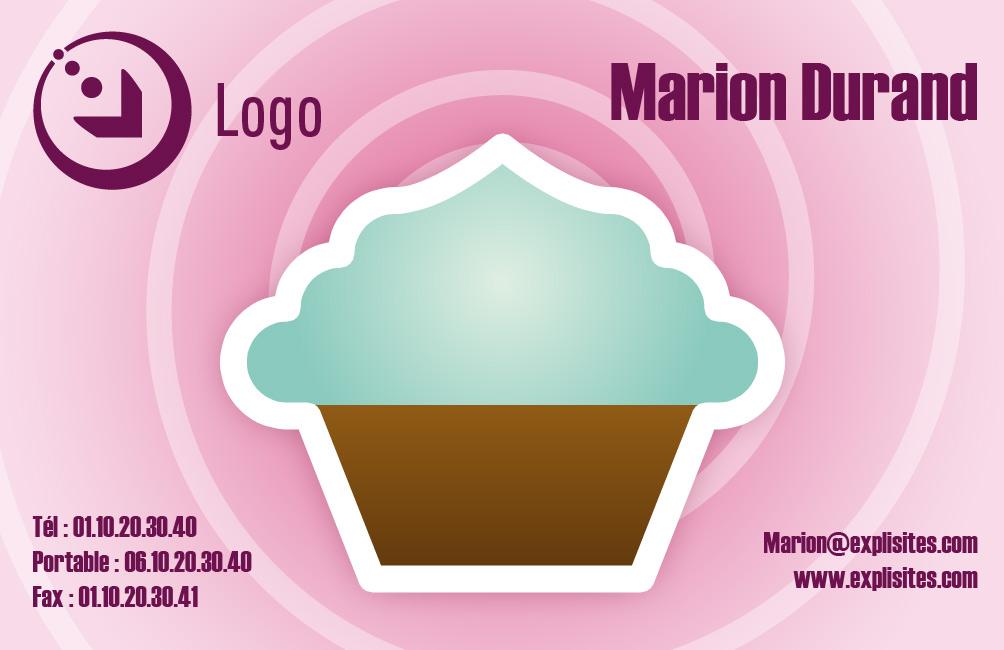 Carte De Visite Cupcake