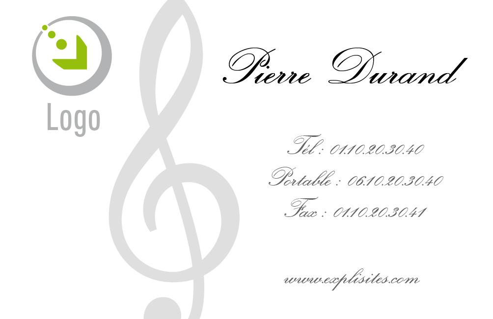 Exemple De La Carte Viste Musique Visite Telechargez Gratuitement