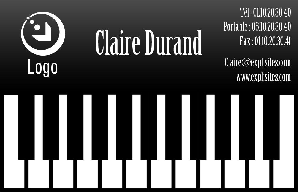 Carte De Visite Piano