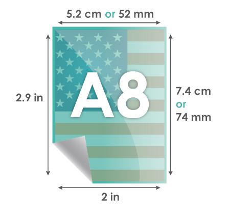 Paper A8 74 X 52 Mm 7 4 5 2 Cm 9